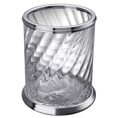 Windisch 89801CR-638845337298 Spiral Collection Waste Basket, Chrome