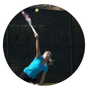 alfombrilla de ratón Tenis Junior jugador que sirve - ronda - 20cm