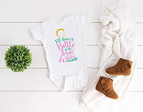 Gender Neutral Baby Shower Gift Unisex Baby Clothes Ill Have a Bottle of The House White Funny Baby Wine Bodysuit