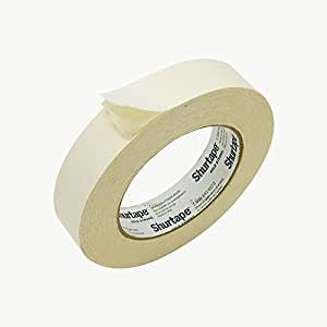 Shurtape DF-65 Double Faced Flat Paper Tape: 1 in. x 36 yds. (Natural)