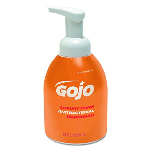 - GOJO 5762-04 18-Ounce Luxury Foam Antibacterial Handwash (4 per Case)