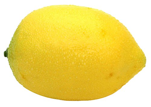C-Pioneer Lemon Artificial Fruit Fake Theater Prop Staging Home Decor Faux Lemons (6, Yellow)