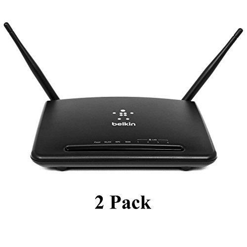 Belkin 2 Pack F9K1010 300Mbps Wireless-N 300 4 Port Router w/ 2 Antennas - Black by Belkin