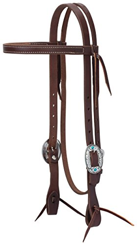 (Weaver Leather Working Tack Feather Designer Hardware Slim Browband Headstall )