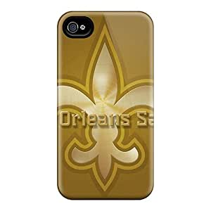 Excellent Cell-phone Hard Cover For Iphone 4/4s (lVP16203WPWE) Support Personal Customs Realistic New Orleans Saints Image