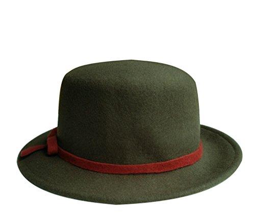verde unica con scuro lana donna Cappello taglia da Acvip in viaggio da papillon Fedora T466qx71A