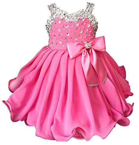 Jenniferwu Infant Toddler Baby Newborn Little Girl's Pageant Party Birthday Dress G466 Bubble Pink Size 9-12M