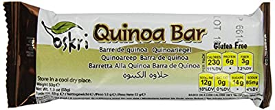 Oskri Quinoa Bar, Gluten Free, 1.9-Ounce Bars (Pack of 20)