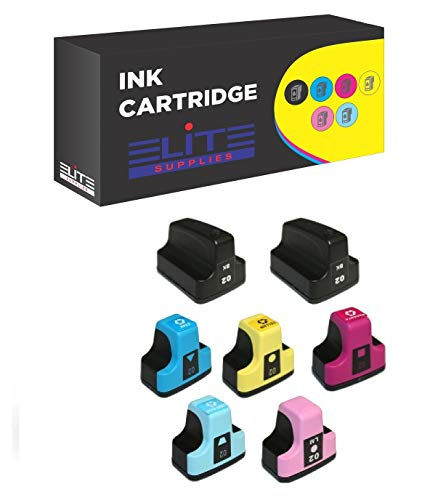 - 7 Pack Elite Supplies Ink Cartridge Replacement for HP02XL hp02 (2 Black, 1 Cyan, 1 Magenta, 1 Yellow, 1 Light Cyan, 1 Light Magenta)