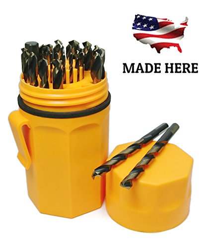 Norseman Super Premium Magnum 29 Piece Drill Bit Set - Orange Ultradex - 46962-135 Degree Split Point - Round Shank With Three Flats (Best Drill Bit For Inconel)
