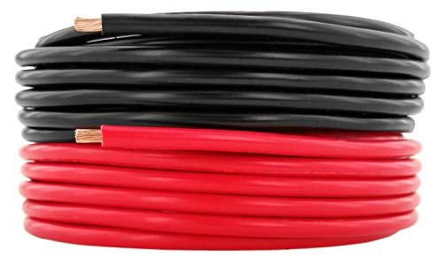 (GS Power 12 AWG (American Wire Gauge) Pure Copper Primary Wire | 10 feet Red & 10 ft Black Combo | for Car Audio Speaker Amplifier Remote 12 Volt DC Automotive Trailer Harness Hookup Wiring)