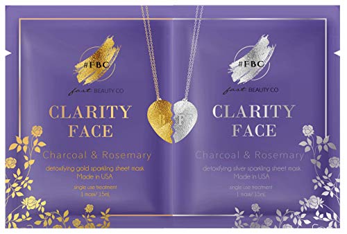 Fast Beauty Co. BFF Clarity Face! Detoxifying Gold & Silver Masks With Charcoal & Rosemary, 2 units