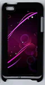 iPod 4 Cases & Covers - Purple Patterned Background Custom PC Soft Case Cover Protector for iPod 4 - Black