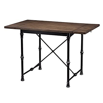 Amazon Com Drop Leaf Dining Table With Weathered Umber With Rustic