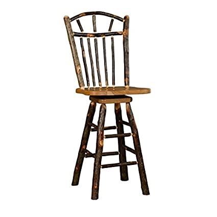 Remarkable Amazon Com Rustic Hickory Wagon Wheel Swivel Stool Bar Pdpeps Interior Chair Design Pdpepsorg