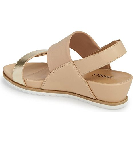VANELi Hayley Sandal Slingback Women's Comfort Adjustable Sandal Hayley B07CP2BXPF 8.5 B(M) US|Platino Leather b64bf6