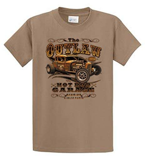 Hot Rod T Shirts >> Amazon Com Outlaw Garage Hot Rod T Shirts Regular Big And Tall
