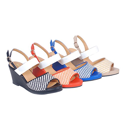 2018 women`s wedge lady shoes shoes new fashion purfle sandals casual sandals summer platform shoes Red HHgUBx