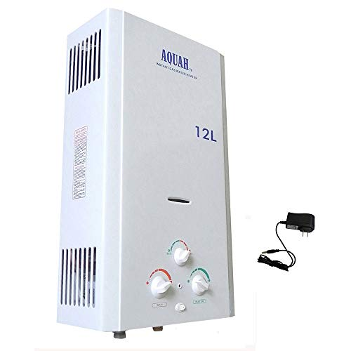 NEW AQUAH 12L 3.2 GPM PROPANE LPG GAS TANKLESS WATER HEATER