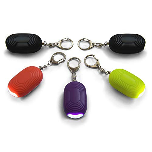 - Safesound Personal Alarm Keychain - 130 dB Self Defense Device with LED Light - Emergency Siren SOS Alert Key Chain with 3 Security Modes for Women, Kids, Elderly, and Joggers by WETEN, 5 Pack