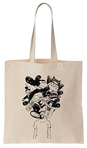 Reutilizables de Bag Bolsos Mind Tote Your Compras Algodón Animation de Rocks wBH166