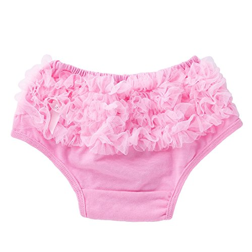 Euone Girls Bowknot Panty Diaper Ruffle Bloomer Underwear for 0-12 Months Baby (6-12 Months, Pink) -
