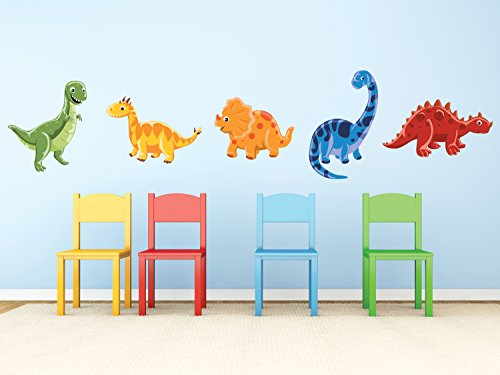 Sunny Decals Dinosaur Fabric Wall Decals (Set of 5) ()