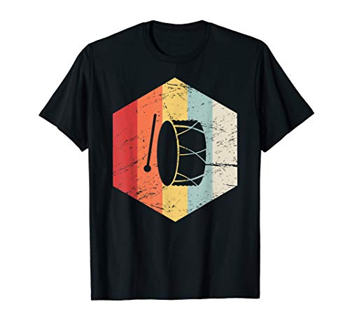 - Retro Vintage Marching Band Bass Drum T-Shirt