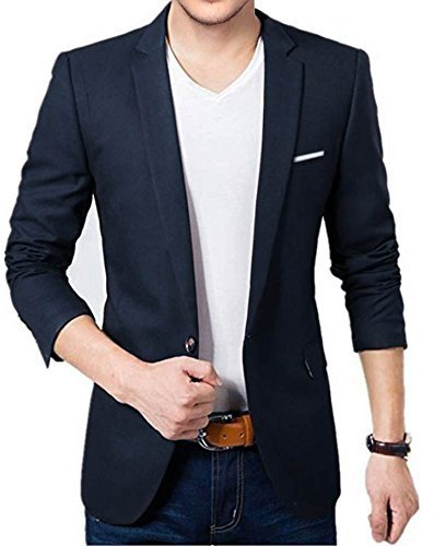 BELARIO Men Fashion Mens Navy Blue Casual Wear Blazer