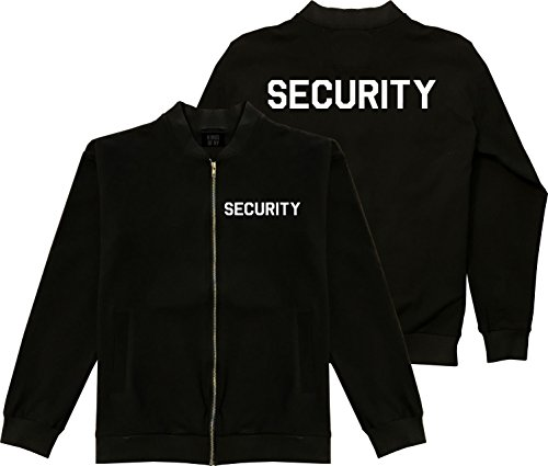 Kings Of NY Event Security Guard Uniform Mens Black Bomber Jacket Large (Security Bomber)