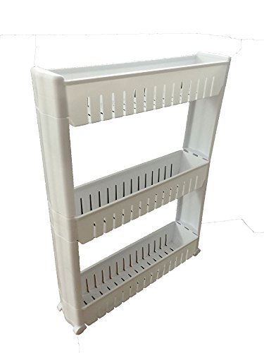 Laundry Room Portable Storage Cart Slim Rolling Pull Out