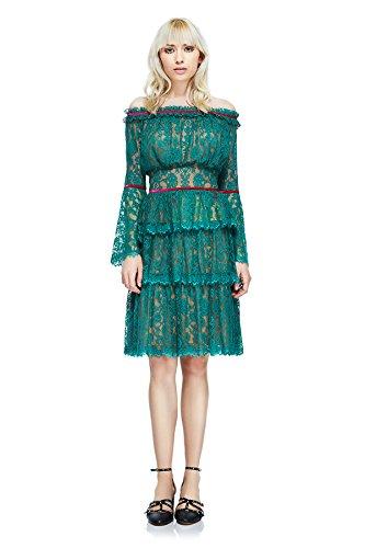 Tadashi Shoji Jacquin Off-The-Shoulder Dress - Brhfl- Size 12 ()