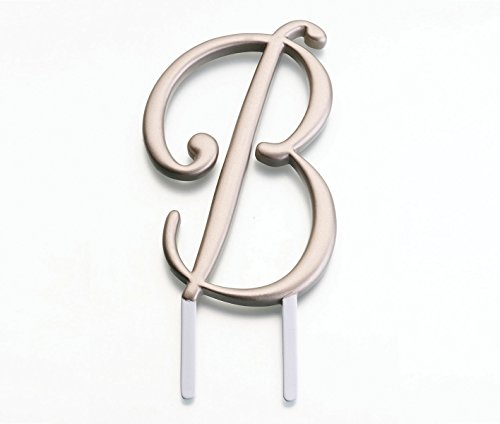Lillian Rose Monogram Cake Topper Letter B Gold (Monogram Letter A Cake Topper)