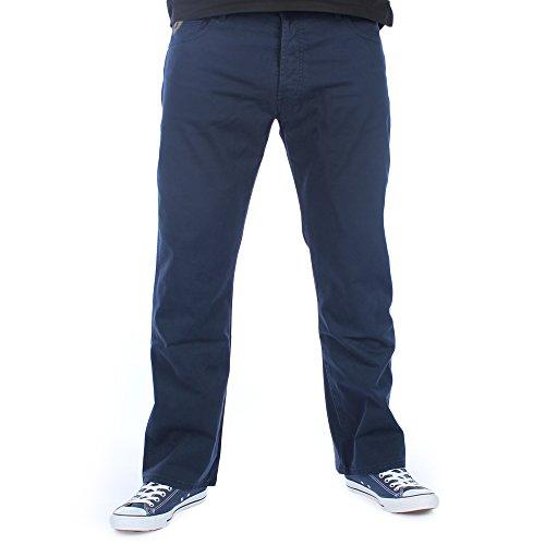 LOIS Mens Marvin Bedford Navy Regular Fit Corduroy Trousers W38 L32 Bedford Corduroy Pants