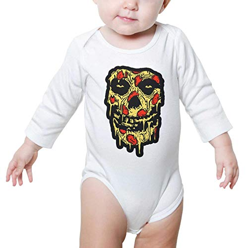 LUnBa Misfits Art Pizza Baby Onesies White Clothes Bodysuits Long Sleeve Natural Organic Cotton Rompers