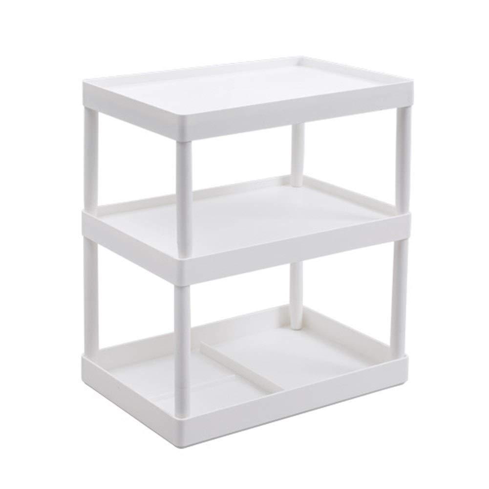 Multi-layer Desktop Storage Rack Kitchen Plastic Finishing Rack Shelf Heightening Chassis Compartment 1518.828cm 2918.828 (Color : B, Size : 2918.828CM)