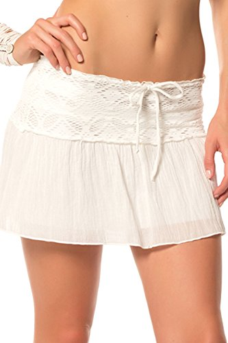 Becca by Rebecca Virtue Women's Ritual Skirt Swim Cover Up White S