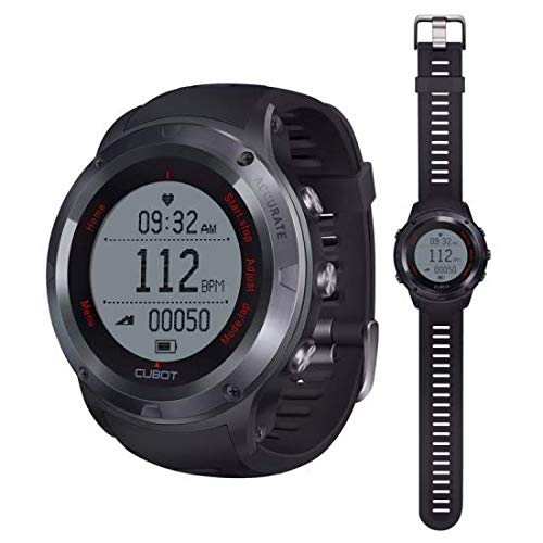 CUBOT 9980045886 - Reloj Deportivo Inteligente con Bluetooth, Color Negro