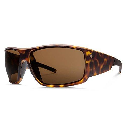 Electric Unisex Backbone S Polarized Sunglasses, Matte Tort Shell/Melanin Bronze Level 1, One Size