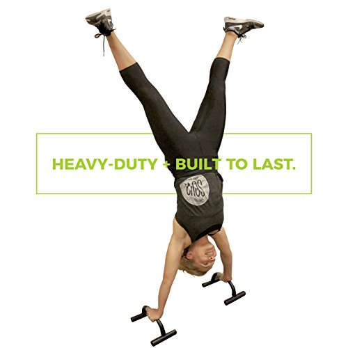 Top Quality Push Up Bars. Sport it Fitness Portable Pushup Stands with Bonus Resistance Band and Workout Guide.
