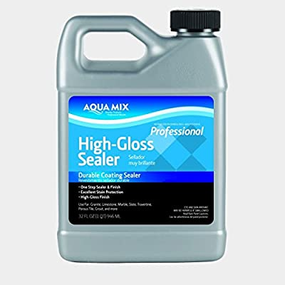 Aqua Mix High Gloss Durable Coating Sealer Quart 32 oz