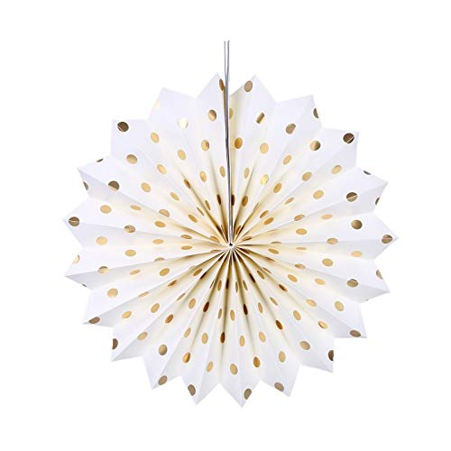 - Folding Fan Hanging Dot Printed Paper Fans Decorative Ornaments Valentine's Day Party Wedding,Y,China,