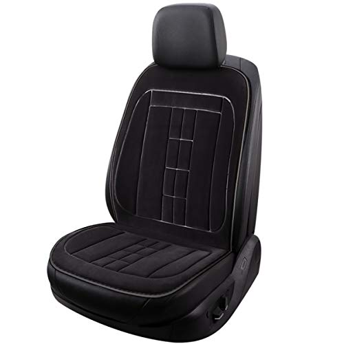 INCH EMPIRE Heating Car Seat Cover Non-Slip Fast Heat Velvet Surface 12V Electronic Heated Universal...