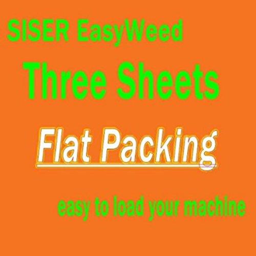 3 sheets of 12 x 15 Siser Easyweed Heat Transfer Vinyl, IRON ON T-shirt Heat Transfer, Craft Garment, (Orange)