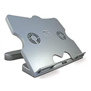Laptop Stand & Cooling Stand (Dual-Fan Extra Quiet) - Silver