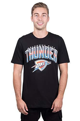 Ultra Game Mens NBA Arched Plexi Short Sleeve Tee Shirt, Oklahoma City Thunder, Black, X-Large