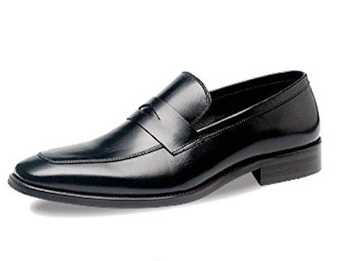 LINYI High-end Neue Männer Einfarbig Business Kleid Kleine Platz Leder Herrenschuhe Geschenk Boutique Black