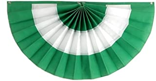 """product image for Irish Flag Banner by Independence Bunting - American Made St. Patrick's Day Decorations! Get a little Luck of the Irish with our Fully Sewn Irish Bunting (Nylon, 24"""" x 48"""")"""