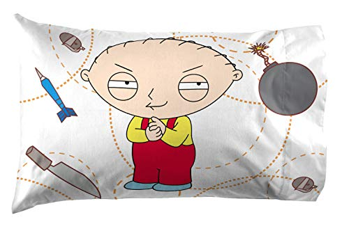 Jay Franco Family Guy Victory 1 Pack Pillowcase Featuring Stewie Griffin - Reversible Super Soft Bedding (Official Family Guy Product) (Stewie Toy Griffin)