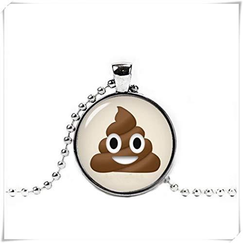 A little little love Cute Poop Emoji Necklace, Poop Emoji Pendant ,Geeky Necklace ,Geeky Pendant,